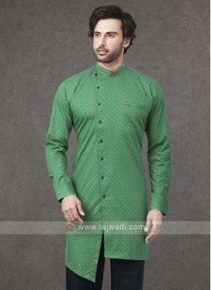 Printed Kurta In Green
