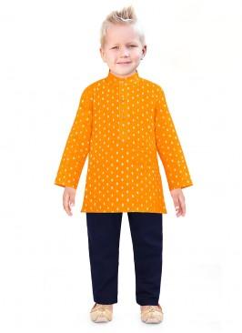 Printed Kurta Pajama For Boys