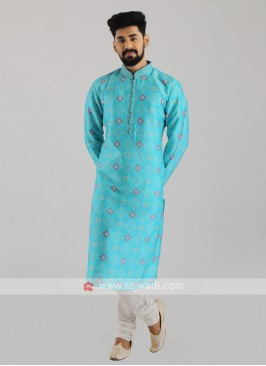 Printed Kurta Pajama For Men
