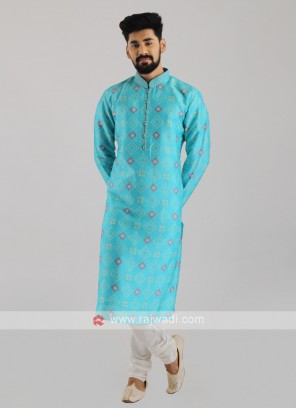 Printed Kurta Pajama For Men