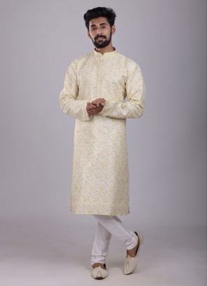 Printed Kurta Pajama For Mens