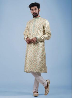 Printed Kurta Pajama For Wedding