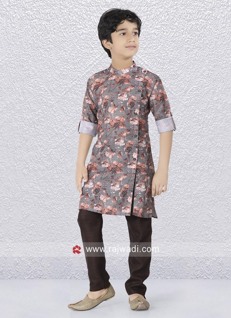 Printed Kurta Set For Kids