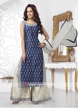 Printed Kurta with Designer Palazzo and Dupatta