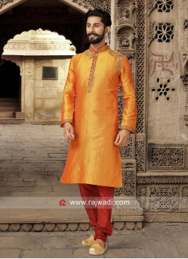 Stylish Mustard Yellow Kurta For Mens
