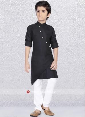 Party Wear Black Kurta Pajama