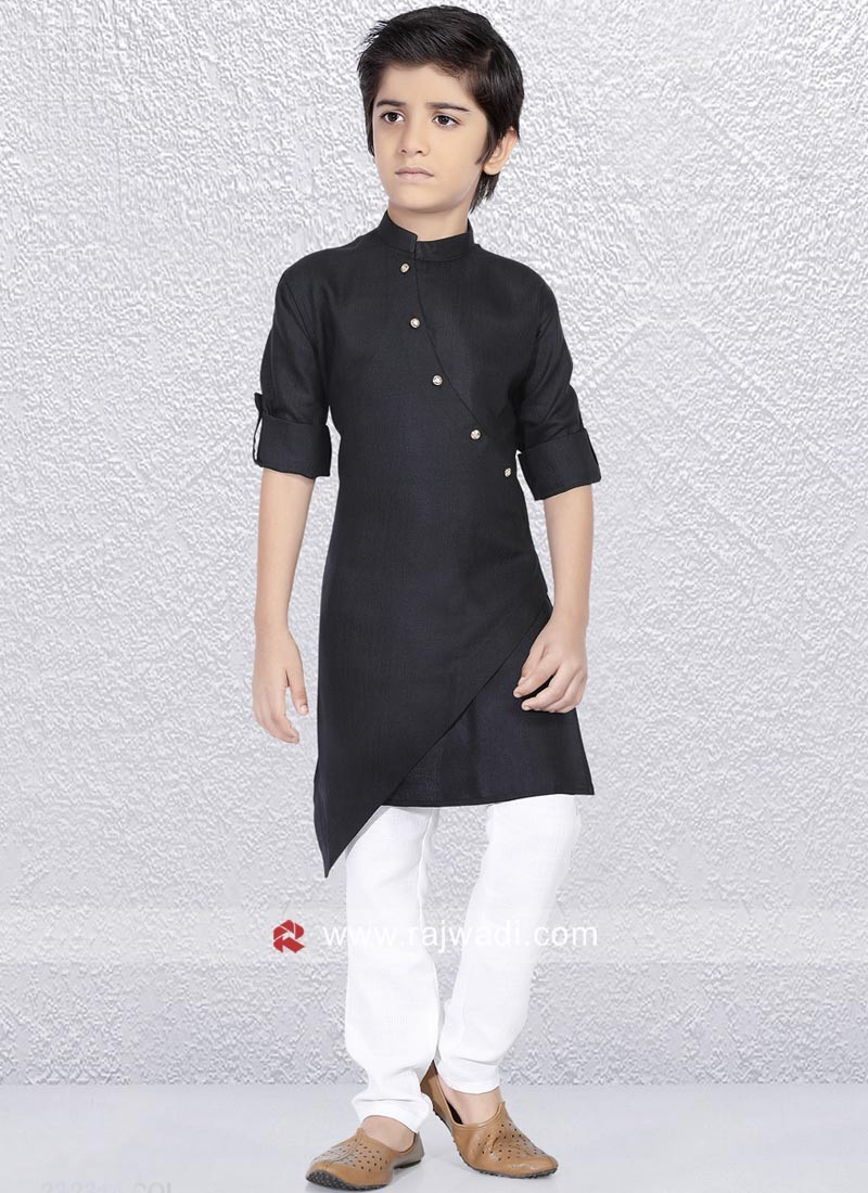 Party Wear Black Kurta Pajama