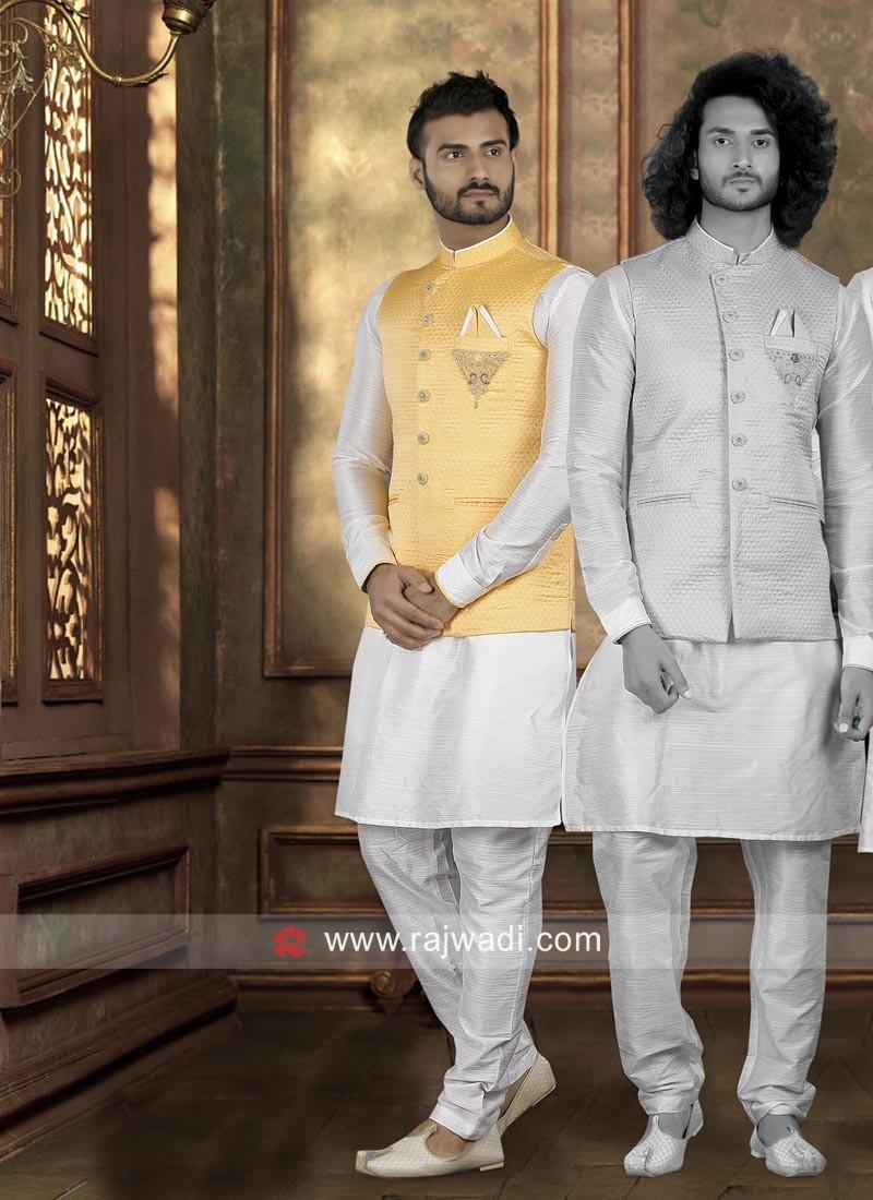 Stylish Art Silk Nahru Jacket