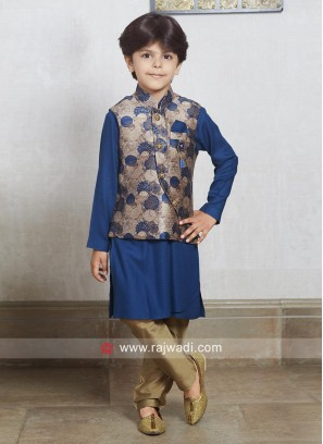 Plain Kurta With Stylish Koti