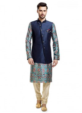 Printed Kurta With Stylish Koti