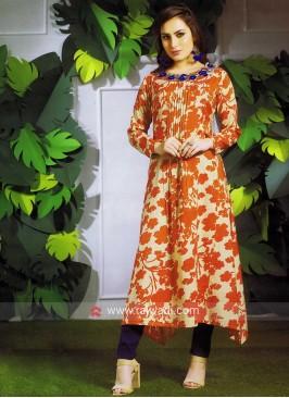 Printed Layered Silk Tunic