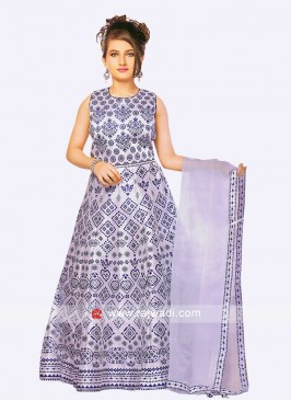 Printed Lehenga Set with Dupatta for Kids