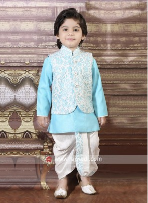 Printed Nehru Jacket For Boys