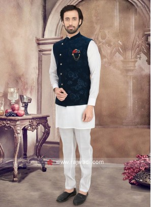 Printed Nehru Jacket Set