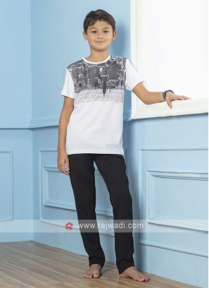 Printed Night Suit For Boys