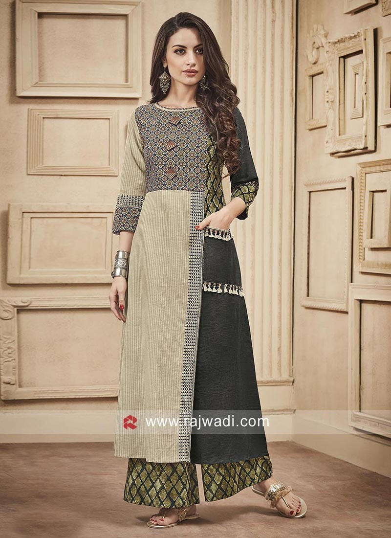 e0c175a4fc Printed Palazzo Salwar Kameez. Hover to zoom