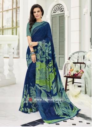 Printed Party Wear Saree