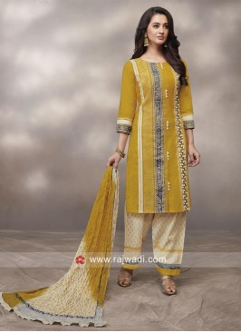 Printed Party Wear Suit with Dupatta
