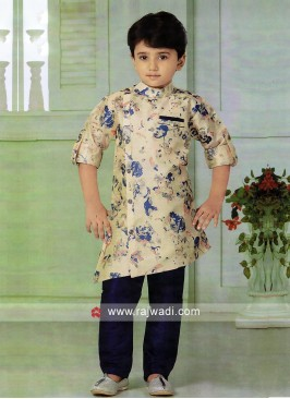 Printed Pathani Suit For Boys