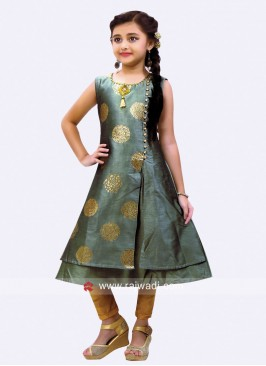 Printed Salwar Kameez for Girls