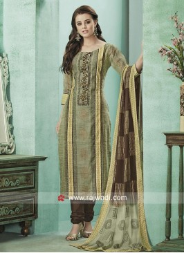 Printed Salwar Suit with Sleeves