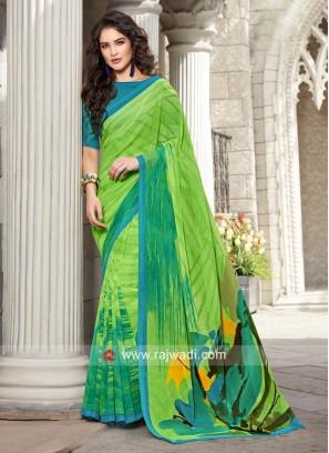 Printed Sari with Blouse