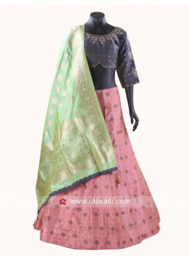 Printed Silk Chaniya Choli