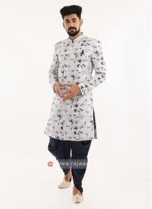 Printed Silk Indo western For Men