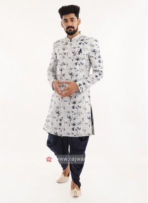 Printed Silk Indo western For Men