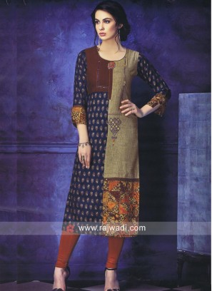 Printed Straight Fit Kurti