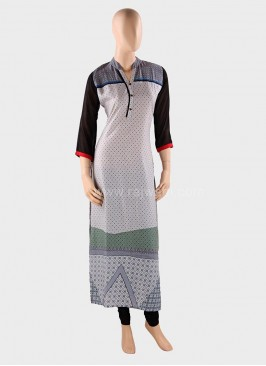 Printed Straight Long Kurti