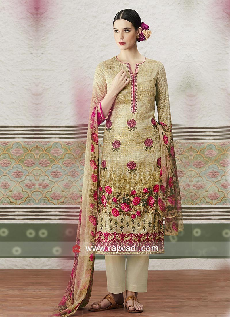 Printed Straight Salwar Suit