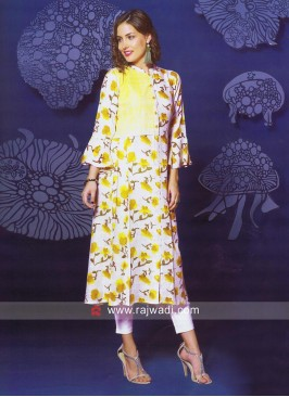 Printed Thread Work Kurti