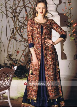 Printed Traditional Short Long Kurti