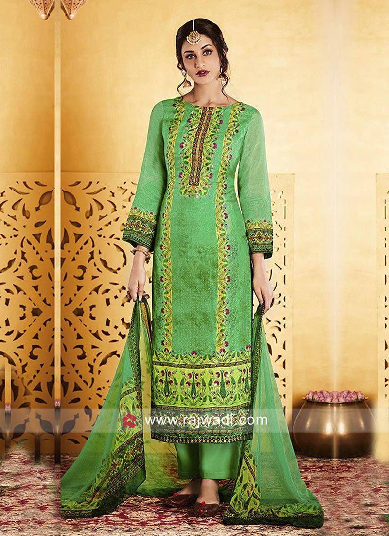Printed Unstitched Salwar Suit