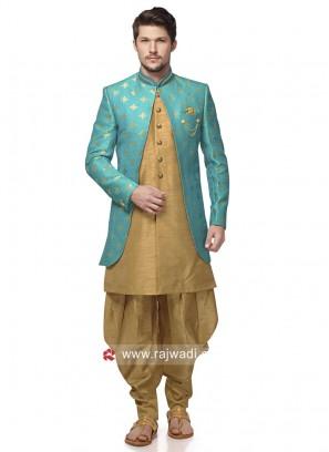 Traditional Brocade Silk Indo Western