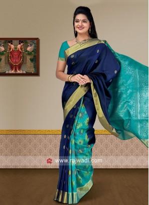 Pure Silk Designer Saree with Blouse