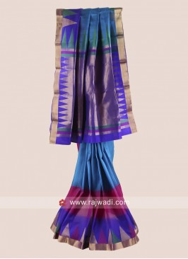 Pure Silk Designer Saree with Blouse