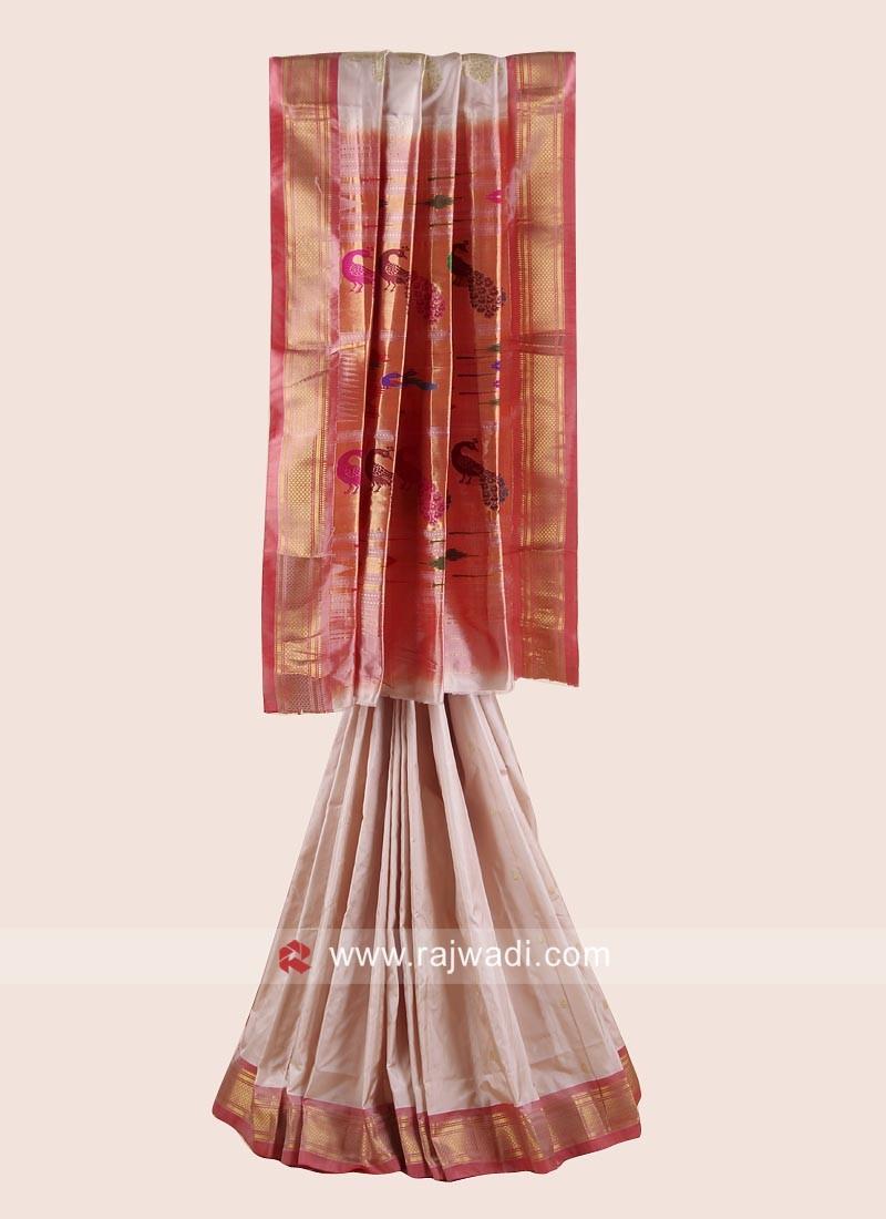 Pure Silk Designer Wedding Saree