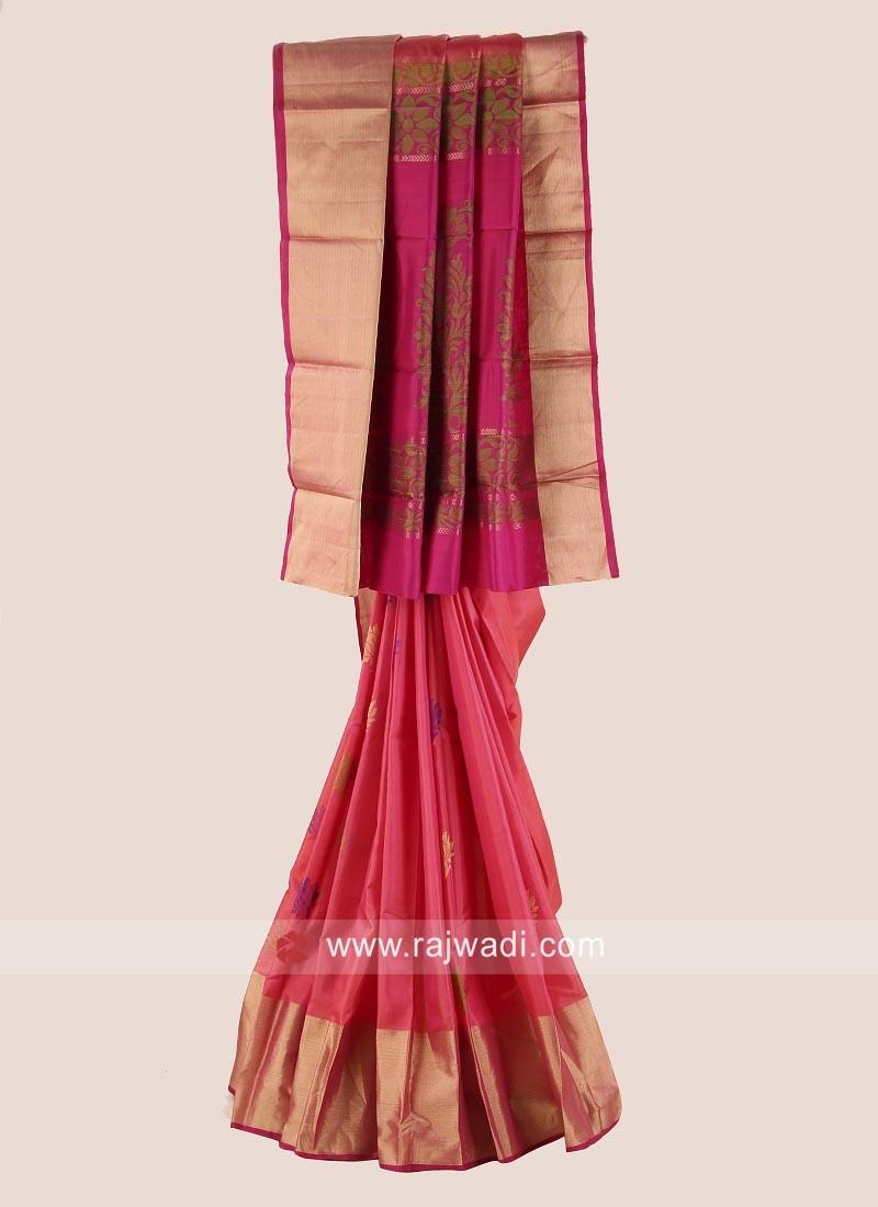 Pure Silk Designer Wedding Woven Saree