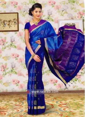 Pure Silk Double Color Saree