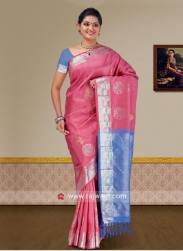 Pure Silk Double Color Woven Saree