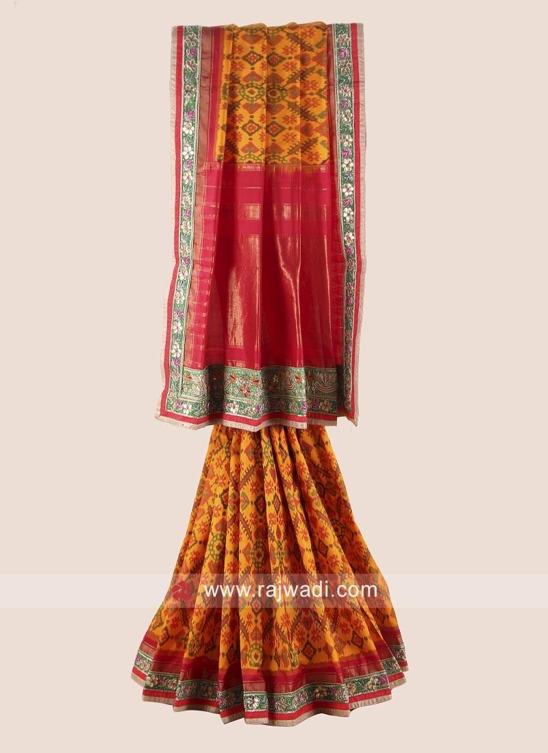 Pure Silk Gujarati Patola Saree
