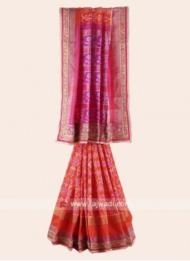 Pure Silk Patola Print Saree