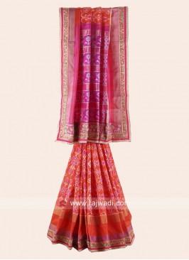 Pure Silk Patola Print Saree