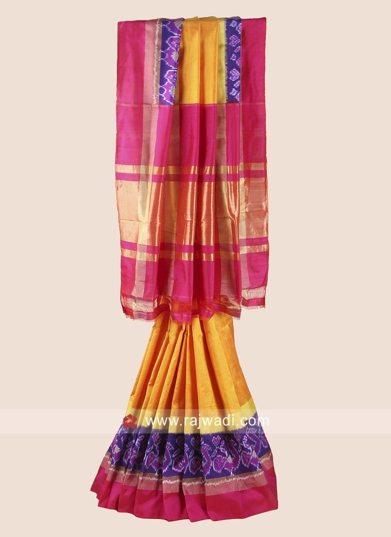 Pure Silk Patola Saree for Wedding