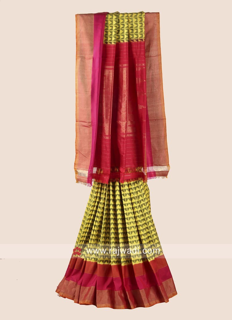 Pure Silk Patola Saree with Blouse