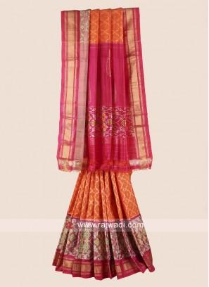 Pure Silk Patola Saree with Border