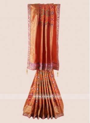 Pure Silk Patola Saree with Border