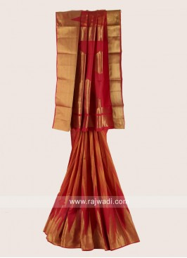 Pure Silk Reception Saree with Blouse